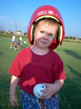 Adrian at tball practice