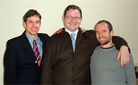 David Treybig with Jako and Erik Kasper