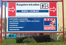 sign for Kopierstube