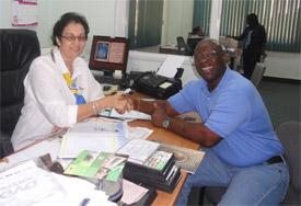 Stan at Paramaribo TV station