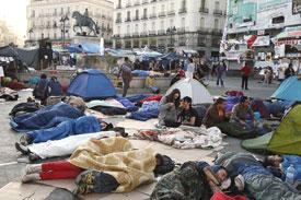 Spanish protestors
