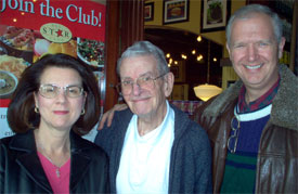 Dan and Nancy Hall with John Burquist