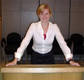 Marian at Dutch speakers club