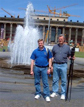 Peter Eddington and Clay Thornton in Berlin