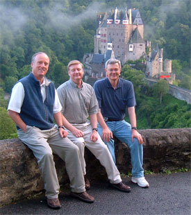Paul Kieffer, Peter Eddington and Clay Thornton at Burg Eltz