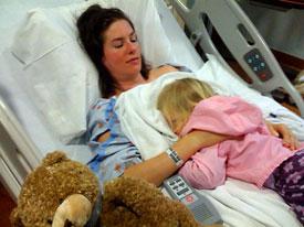 Rachel after surgery