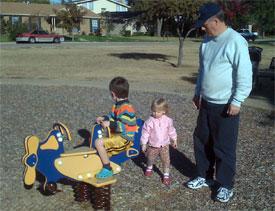 Opa with grandkids