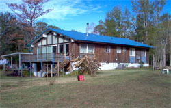 house in Mobile with new metal roof