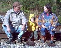 Opa, Sean and Rachel on train tracks