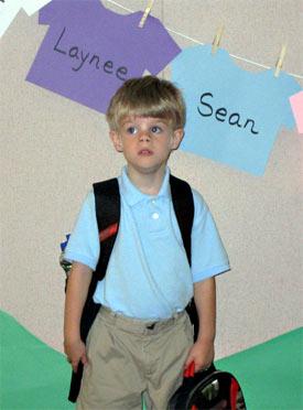 Sean at school