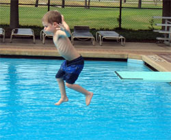 sean on diving board