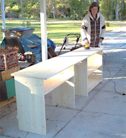 monica making cabinet