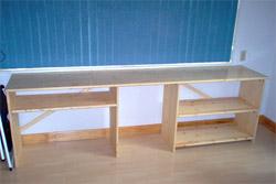 monicas cabinet in its corner spot